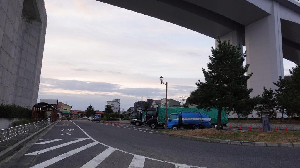 道の駅あわじの駐車場