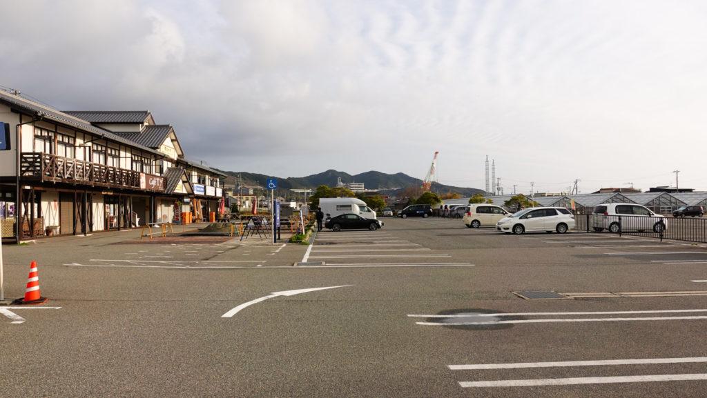 道の駅東浦ターミナルパークの駐車場
