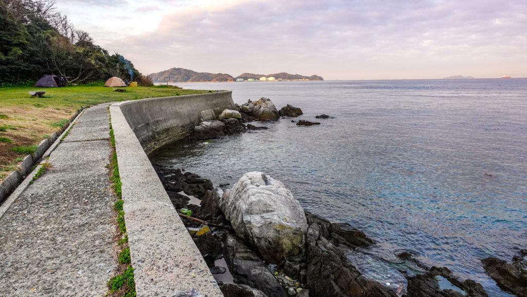 大角海浜公園 くじら広場キャンプ場  海とキャンプサイト